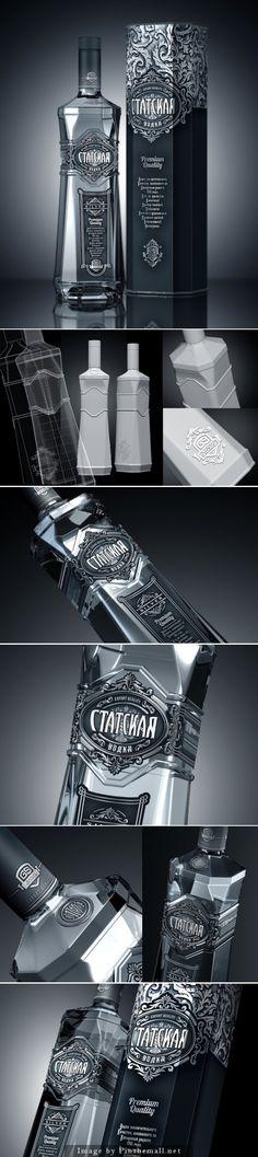 "Statskaya Premium Vodka Client: ""Ganja Sharab-2"" JSC - (Azerbaijan) (Alcohol Bottle Design)"