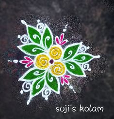 Simple and Easy Rangoli Designs With Dots For Home Best Diwali Kolam Photos Indian Rangoli Designs, Simple Rangoli Designs Images, Rangoli Designs Latest, Rangoli Designs Flower, Rangoli Border Designs, Rangoli Patterns, Rangoli Ideas, Rangoli Designs With Dots, Flower Rangoli