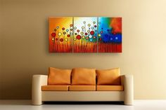 Lovely little flowers, Artwork for Sofa Room Decoration- Direct Art Australia,  Price: $389.00,  Shipping: Free Shipping,  Size of Parts: 40cm x 60cm x 3 panels,  Total Size (W x H): 120cm x 60cm,  Delivery: 21 - 28 Days,  Framing: Framed (Gallery Wrap & Ready to Hang!),  Handpainted: 100% Hand Painted on Canvas,  Guarantee: 30 Day Money Back Guarantee,  http://www.directartaustralia.com.au/