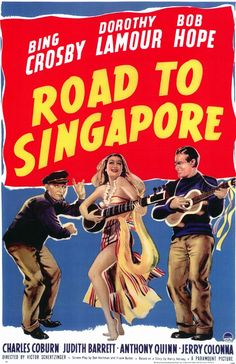 (1940) - Road To Singapore. The first road trip for Bing Crosby, Bob Hope and Dorothy Lamour. Sure they had a set formula, but the Road films are enjoyable for the easy, funny banter between all three stars. Everyone thinks of Hope and Crosby as the team that made these films great, but do not discount Lamour's contributions. It was a comedy trio, not a duo. There's a reason she was brought back for all six sequels. She deserves a great deal of credit for the greatness of the Road flicks.