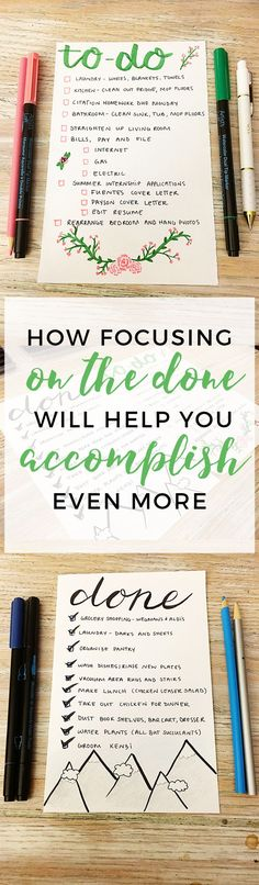 How Focusing on the 'Done' Will Help You Accomplish Even More http://productiveandpretty.com/better-to-do-list/?utm_campaign=coschedule&utm_source=pinterest&utm_medium=Jen%20%2B%20Liz%20%7C%20Productive%20and%20Pretty&utm_content=How%20Focusing%20on%20the%20%E2%80%98Done%27%20Will%20Help%20You%20Accomplish%20Even%20More
