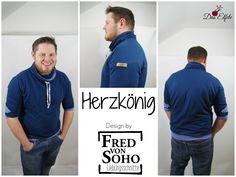 "Men Hoodie ""Herzkönig"" von #FredvonSoho"