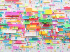 I've always though that post-it notes are beautiful and this proves my point. (found via Junk Culture, by Gabriel De La Mora)