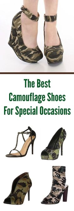 The Best Camouflage Shoes For Special Occasions - click for the best camouflage pumps, camouflage ankle boots, camouflage sandals and more.