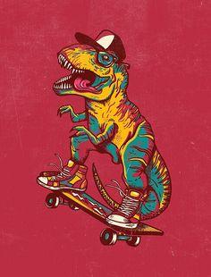 HipsteRex t-rex dino dinosaur skate skateboarding Skateboard Design, Skateboard Art, Art And Illustration, Dinosaur Wallpaper, Doodle Art, Wallpaper Animes, Digital Foto, Dinosaur Tattoos, Skate Art