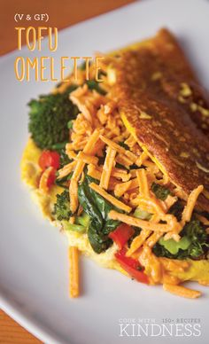 #Vegan #Glutenfree Tofy Omelette Recipe + International Giveaway in partnership with Oh My Veggies | Chantal's version of this savory brunch dish can be enjoyed by everyone with the help of silken tofu, turmeric and nutritional Make these for a leisurely breakfast at home, or whip them up as breakfast-for-dinner. Once you master the basic formula, you can swap in whatever veggies and fillings