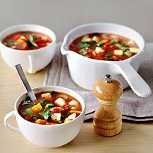 Recipe for vegetable soup, 0 pp - written in Dutch - Groentesoep met ProPoints waarde 0