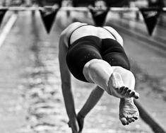 swimmer flying