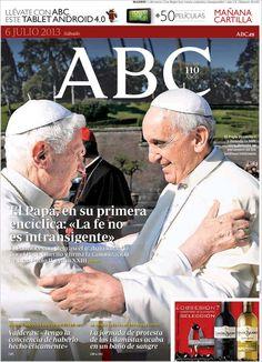 Los Titulares y Portadas de Noticias Destacadas Españolas del 6 de Julio de 2013 del Diario ABC ¿Que le parecio esta Portada de este Diario Español?