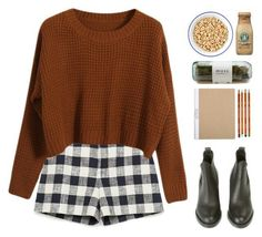 Love the pattern on the shorts and the cut/style/color of the sweater