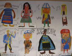 KALEVAa tulkittiin vaihteeksi näin: - Jaettiin Kalevalan hamot. -Tutkittiin omaa hahmoa hakemalla lisäinfoa tästä. - Poimittiin löydetyistä... Vikings, Change Maker, Finland, Special Day, Mythology, Fathers Day, Illustrators, Kindergarten, Illustration Art