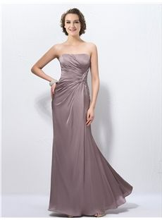 Elegant Sheath/Column Strapless Sequins Pleats Zipper-Up Evening Dress & simple Evening Dresses