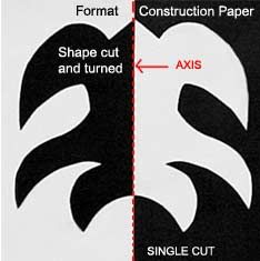 Cut design in black paper square Glue onto white paper 1 full square Positive and Negative design Negative And Positive Space, Negative Space Art, Notan Art, Notan Design, 7th Grade Art, Grade 2, Art Lessons Elementary, Elementary Teaching, School Art Projects