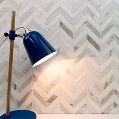 Talon Calacatta and Thassos Marble Tile - Chevron Pattern - Stone Collections