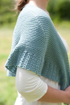 Love the border on this simple shawl from Quince & Co.