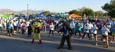 Participants doing zumba before the run/walk