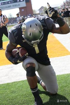 Baylor's Corey Coleman just after scoring a touchdown against WVU. #SicEm