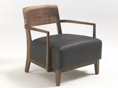 Upholstered solid wood easy chair with armrests Wilma by Riva 1920 | design Terry Dwan