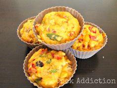 Muffins pimento e chouriço