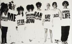 "Katherine Hamnett ""Choose Life"" t-shirt collection, circa 1983."