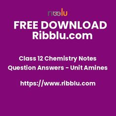 Amines Class 12 Chemistry Notes with Question Answers