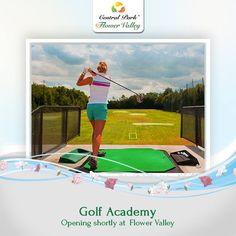 The Golf Academy is set to open. So get your club out and go putting, chipping, driving. #CentralParkFlowerValley. To know more call : 1800 103 6660