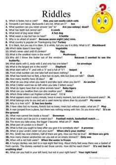 jokes and riddles & jokes and riddles ; jokes and riddles with answers ; jokes and riddles brain teasers ; jokes and riddles for kids ; jokes and riddles funny ; jokes and riddles humor ; jokes and riddles laughing ; jokes and riddles funny laughing Funny Riddles, List Of Riddles, Kids Riddles With Answers, Mind Riddles, Riddles For Students, Kids Jokes And Riddles, Story Riddles, Family Riddles, Number Riddles
