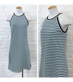 Vintage 90s GAP Sporty Spice striped dress. Comfy cotton/spandex blend with a shelf bra!  M E A S U R E M E N T S  Armpit to armpit: 16 inches Waist: 16 inches Hips: ~18 inches Length: 37 inches  Please note all measurements are taken with the garment laying flat.  M A T E R I A L  Cotton & spandex  B R A N D  Gap  T A G . S I Z E  Size Small  M O D E R N . S I Z E . R E C O M M E N D A T I O N  Size Small  C O N D I T I O N  Excellent vintage condition.  .. .. .. .. .. .. .. .. .. ....