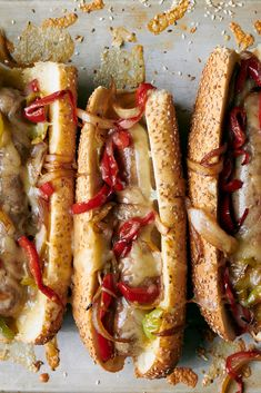 Italian Subs With Sausage and Peppers Recipe - NYT Cooking Italian Sausage Sandwich, Sausage Sandwiches, Olive Dressing Recipe, Italian Sub, Fresh Bread Crumbs, Roast Fish, Mushroom Toast, Pan Fried Chicken, Grilled Sausage