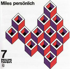 Willy Fleckhaus, album artwork for Miles Davis, 1962. From the Philips Twen record series, Germany.
