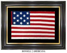 Rare 13 Star Antique American Flag of Canadian Origin