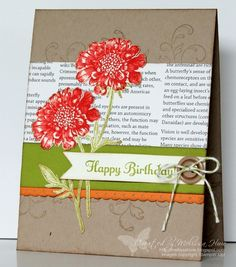Stamping with Melissa: Field Flowers Birthday
