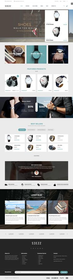 Magento theme for presenting the wrist watch collections. It is featured with exquisite design and tons of powerful features. #customizable #digital store #ecommerce #electronics #facebook #$84
