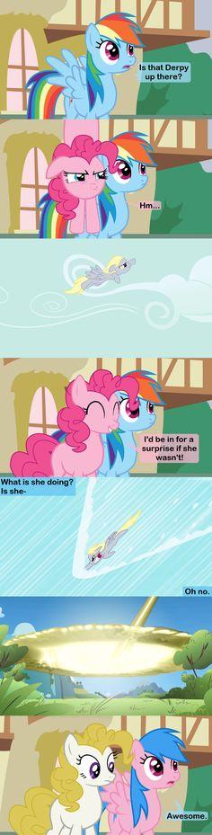 Technically Pinkie/Surprise should have wings.... The Sonic Derpboom by Beavernator.deviantart.com on @deviantART