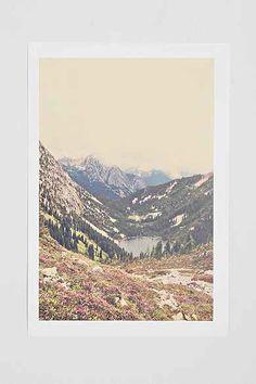 Kurt Rahn Mountain Flowers Art Print