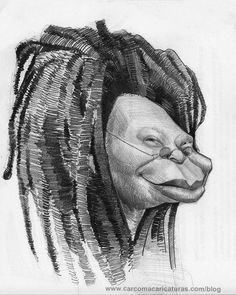 #WhoopiGoldberg #Caricature #FunnyFaces
