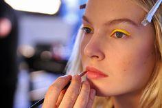 Yellow eye liner
