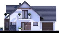Projekt domu HP Taylor D Modern CE - DOM - gotowy koszt budowy Home Fashion, House Plans, Garage Doors, Shed, Outdoor Structures, House Design, House Styles, Classic, Outdoor Decor