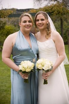 Simple, traditional & elegant flowers for these sisters... Contact: floralology@yahoo.com.au