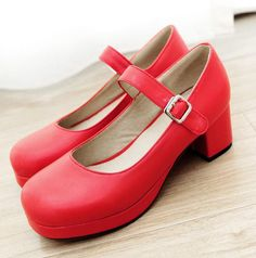 Low Heel Lolita Sweet Cute Doll Shoes Lolita Loafers New Style Red Round Toe Mary Jane Shoes For Woman Big Size 34 43-in Women's Pumps from Shoes on Aliexpress.com | Alibaba Group
