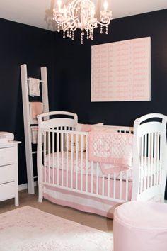 Oilo Design Challenge Cast Your Vote Nursery Blush Navy Blue White Baby Quilt