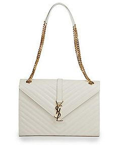 6c8140f76e71 Saint Laurent Large Monogram Matelasse Leather Chain Shoulder Bag