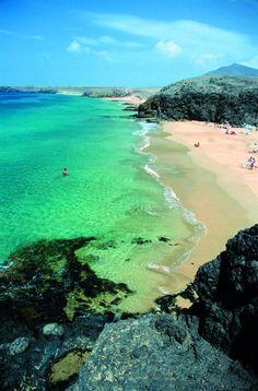 Playa de la Cera, Lanzarote -  commune Yaiza - îles Canaries (Espagne)