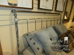 Charleston Forge brass and iron scrolled headboard. Queen size. Retails currently for $800.