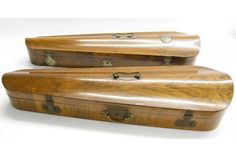 Two antique wooden violin cases (2)