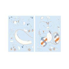 Autocollants décoratifs William et Henry - Noukies : avec les stickers #Noukies complétez la déco de la chambre de bébé, William Henry et Charlie sont repositionnables à volonté sur toutes vos surfaces lisses.