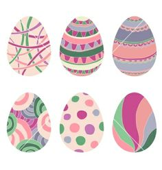 Doodle decorative eggs for easter vector by LizaLutik on VectorStock®