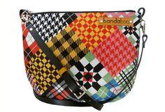 MIX series  checkered pattern messenger crossbody bag by bandabag