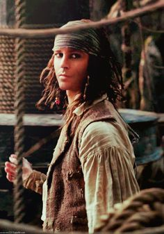YOUNG JACK SPARROW omg he is so awesome and so badass I want more young jack