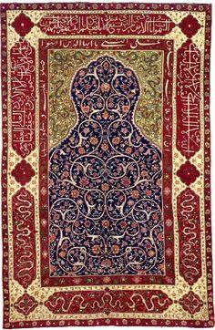 Persian Isfahan prayer rug, 17th c